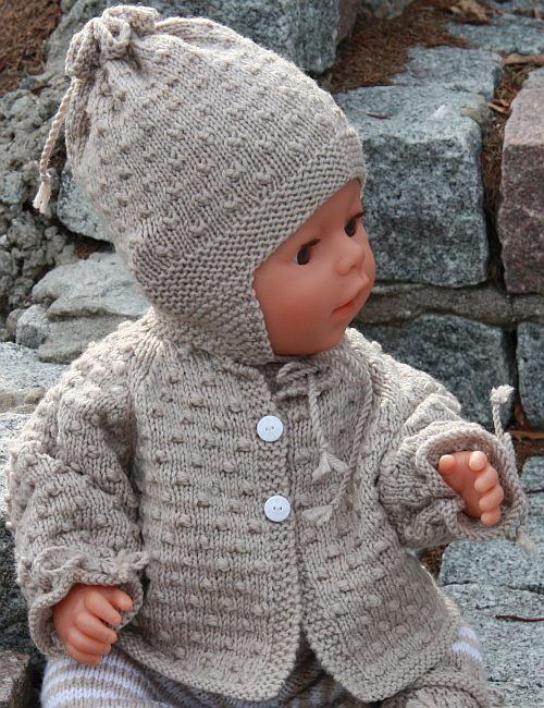 Knitted Baby Patterns Free Online : Free Knitting Patterns Baby Doll