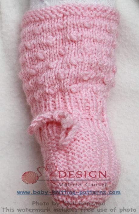 strikkeoppskrifter sokker baby gratis