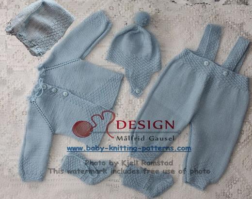 Baby strikkeoppskrift