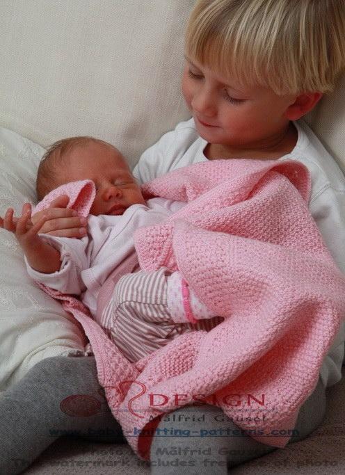 strikke babyteppe