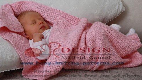 strikke babyteppe nybegynner
